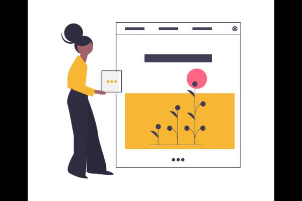 imagen de un diseño personalizado de una página web