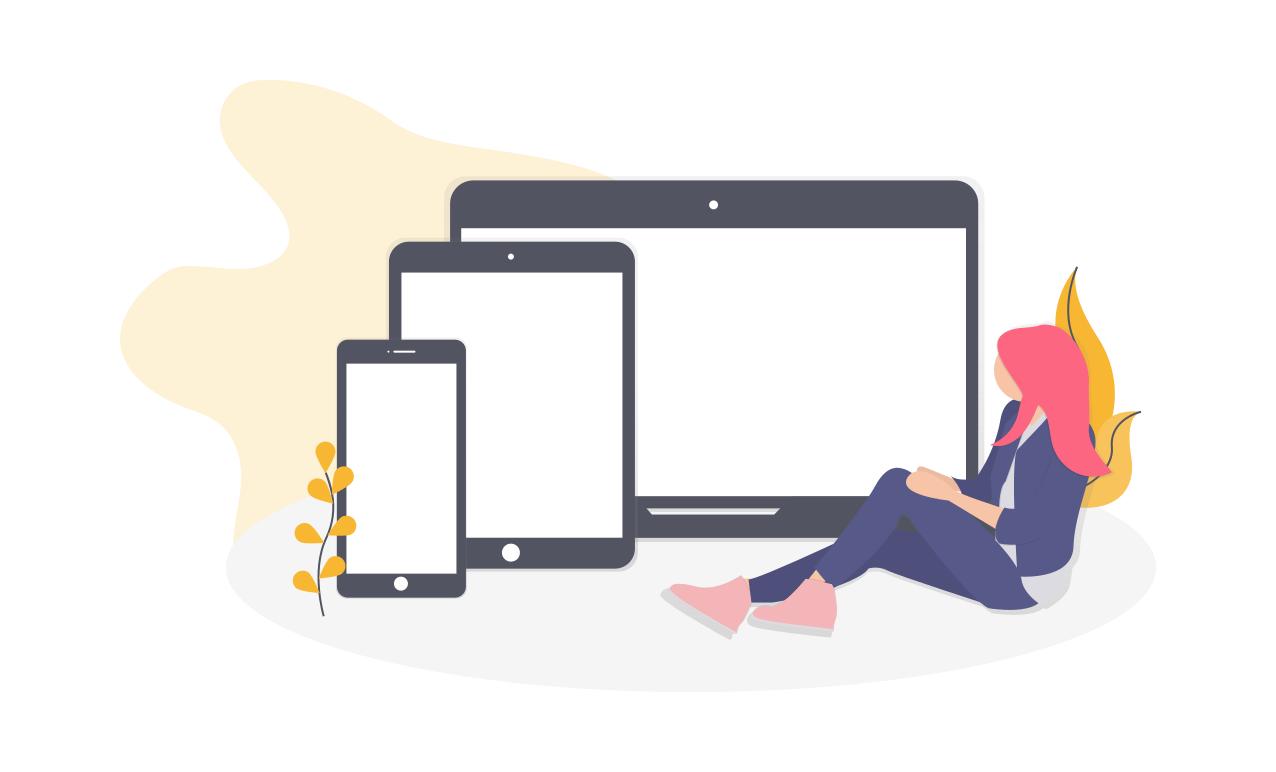 imagen de dispositivos web con un diseño responsive